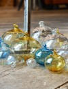 Aleppo hand blown glass baubles